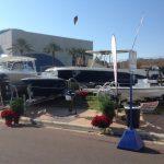 Boats on display